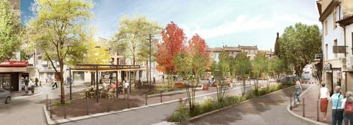 Projet - Place Saint-Louis depuis le boulevard