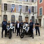 La police municipale équipée de motos