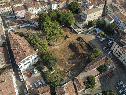 Jardin Charles Gaou en chantier