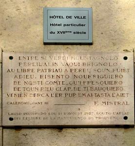 Plaque de l'Hôtel de Ville